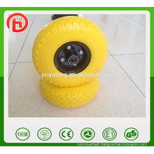 6 x2 2.50-4 3.00-4 3.50-4 400-8 CHINA high quality PU foam wheel for hand trolley truck tool cart wheelbarrow