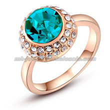Blue Big Gemstone Bride Wedding Rings
