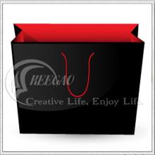 Испытание SGS, черный и красный бумажный мешок, хозяйственная Сумка (кг-PB041)