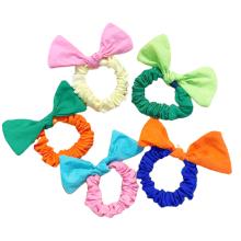 Bandeau Opaska Korean Fluorescent Bowknot Scrunchies Elastic Hair Bands Ring for Girl Women Cute Horsetail Bun Head Tie Bow Rope Hair Accessori