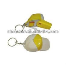plastic hat shape bottle opener with keyring