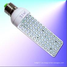 La venta caliente 65leds 110v 220v e27 g24 3w llevó la luz del plc
