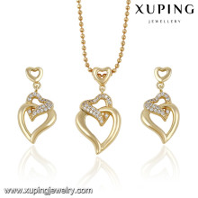 63788 XUPING 2016 Latest Design Copper Alloy Jewelry 14k Gold Color Gold Jewelry Set