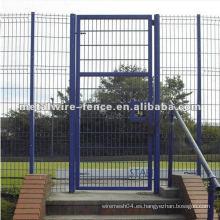Puerta de metal de seguridad de la cerca
