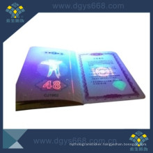 Hot Stamping Hologram Anti-Counterfeiting Booklet