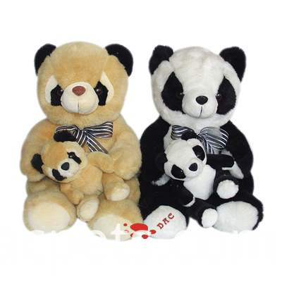 plush big and small panda sets