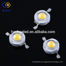 1W White Emitting LED Chip 3.0-3.4v 350mA de alta potencia LED Beads