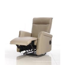 Sofá de salón con sofá moderno de cuero genuino (409)