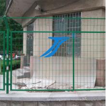 Cerca de panel de alambre doble, PVC revestido, cerca de protección