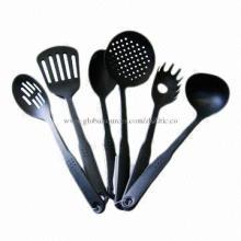 Nylon kitchen utensils sets for cooking, ladle, spaghetti, skimmer, psatula