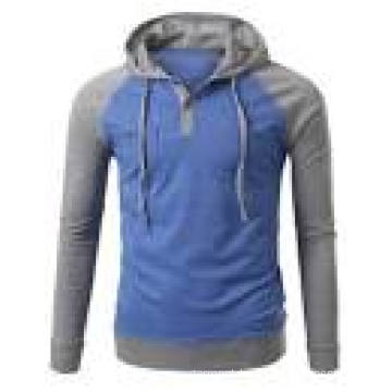 High Quality Plain Cotton Fleece Men′s Hoody