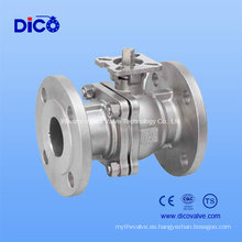 Válvula de bola flotante de brida de acero inoxidable JIS Stainless con almohadilla de montaje ISO5211