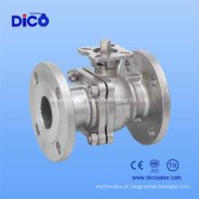 JIS Stainless Steel2PC Válvula de Flutuação de Flange Flange com ISO5211 Pad de Montagem