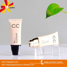 50ml plastic cream pump flat oval tube