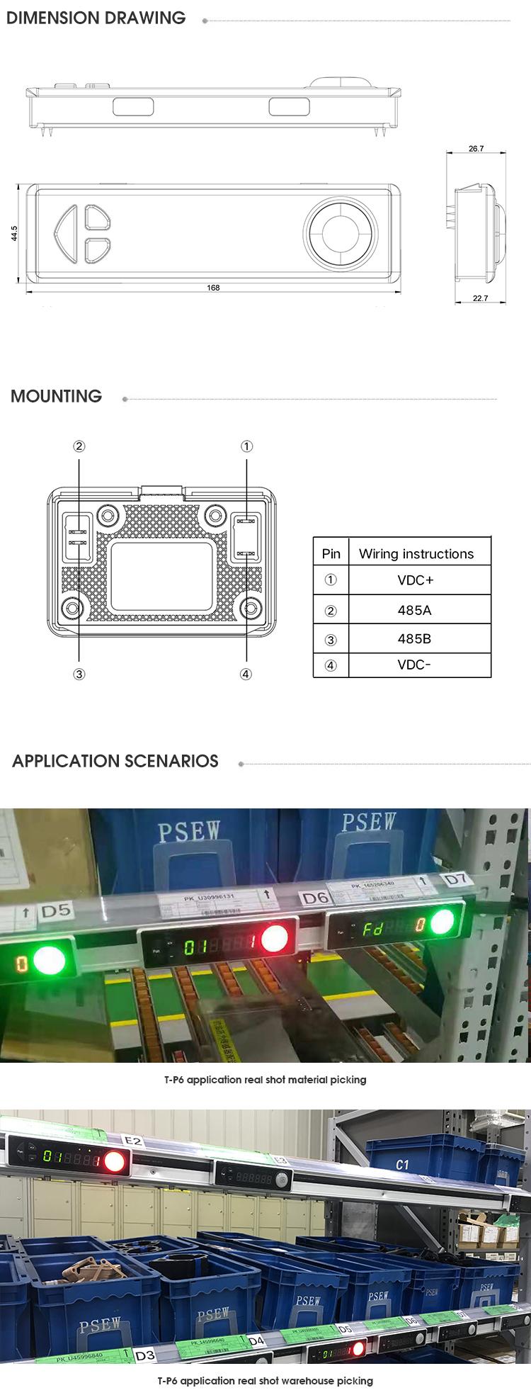 Picking to light modules
