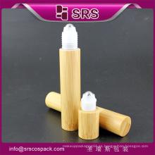 15ml alta calidad y rodillo elegante en la botella con la bola de acero, botella médica del rodillo del bambú