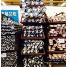 Tuyau en aluminium anodisé Finition Aluminium