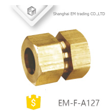 EM-F-A127 Gerader Messing-Außensechskant-Schnellverbinder