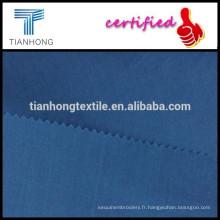 bleu foncé 80 s de haute qualité à armure toile coton/popeline tissu pour chemise formelle