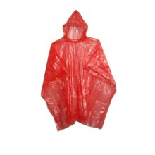 Disposable emergency PE Rain Ponchos for adults