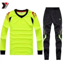 Multicolor manga comprida conjunto completo de treinamento de futebol jersey em estoque