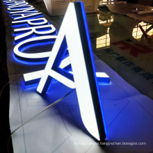 Custom 3d led light acrylic channel letters illuminated advertising sign outdoor