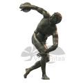 Jardin Décoration Bronze Vie Taille Garçon Jouant Sculpture De Basketball
