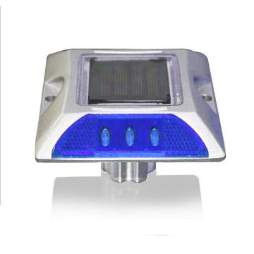 Roadway safety reflective solar aluminum led road stud