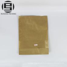 Pochette en papier kraft sacs de rangement pour fruits secs