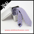 Silver Metal Cotton Skinny Ties Packaging Gift Box and Silk Necktie Giftbox