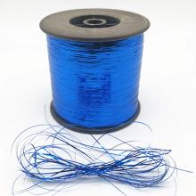 High quality colors Flat 12u 23u 1/69 1/110 M type colorful Blue gold silver flat  100% metallic yarn for weaving
