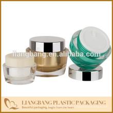 Frasco cosmético com três tamanhos e novo frasco de acrílico cosméticos