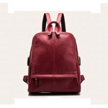 Custom genuine leather men backpack bag