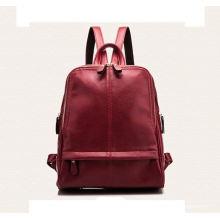 Saco de mochila de homens de couro genuíno personalizado