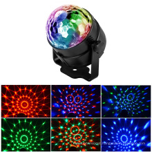 Hot Sales 3W Mini RGB Sound Activated Disco Club DJ Crystal Magic Ball Stage Light with Remote Control