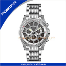 Quality Wrist Stainless Steel Quartz Promotion Watch for Men