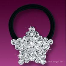 Mode Metall versilbert Kristall Stern Form Gummi Haarband