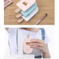 Espelho de maquiagem portátil em forma de sorvete com pente