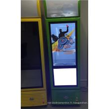 Réfrigérateur commercial de 32inch avec la porte transparente d'affichage à cristaux liquides comme outil de promotion de la publicité de produit