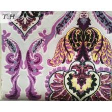 Tissu de velours imprimé coloré pour meubles et sofa