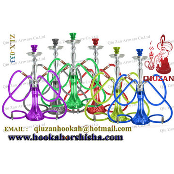 High Quality Large Hookah With Colored Transparent Vase For Sale