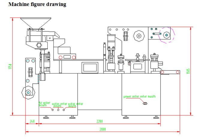 machine drawing of blister packing machine