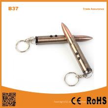 Multifunción luz de la llave y la luz láser con martillo linterna bolígrafo