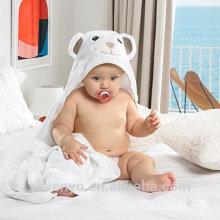Органические бамбука полотенце с капюшоном детские увеличенная количество супер мягкий обернуть в белый отлично подходит для новорожденных, младенцев и малышей очень мягкая и