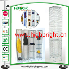 1980 X 305 X 305 Zinc and Colour Wire Mesh Lockers