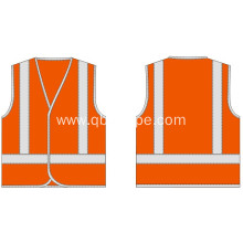high light orange vest with reflective trim