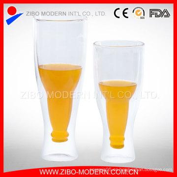 Tazas de cerveza de vidrio al por mayor / taza de vidrio de cerveza / 350 ml 450 ml Steins de cerveza