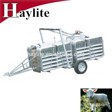 Galvanized goat sheep panel trailer for mobile yard