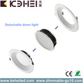 Satin Chrome Changing Downlights LED 8 Inch