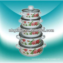 5pcs enamel mini casserole sets